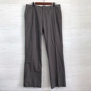 Gap 12 X-Long Solid Gray Straight Leg Trousers